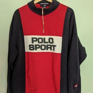 Vintage 1990s Polo Sport Half Zip Pullover